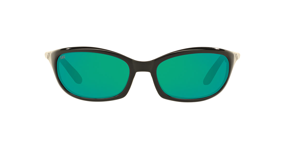 COSTA DEL MAR Black HARPOON 06S000026 62 Green polarized lenses 62mm