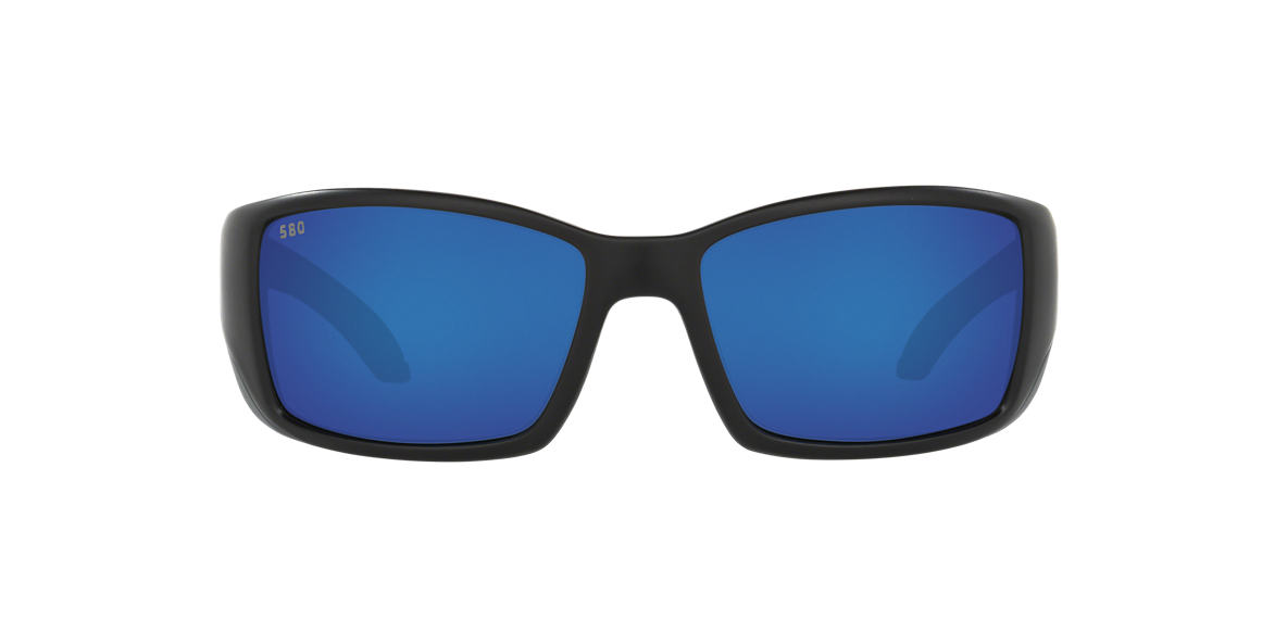 COSTA DEL MAR Black Matte BLACKFIN Blue polarized lenses 64mm