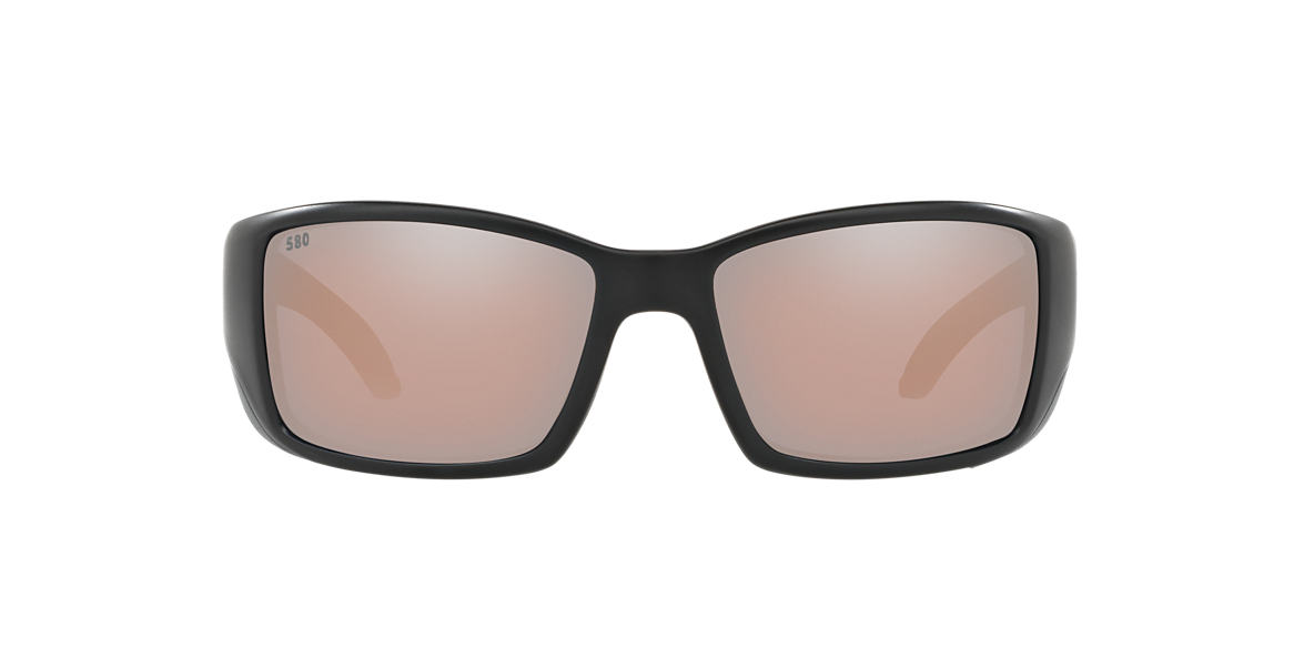 COSTA DEL MAR Black BLACKFIN 06S000003 62 Silver polarized lenses 62mm
