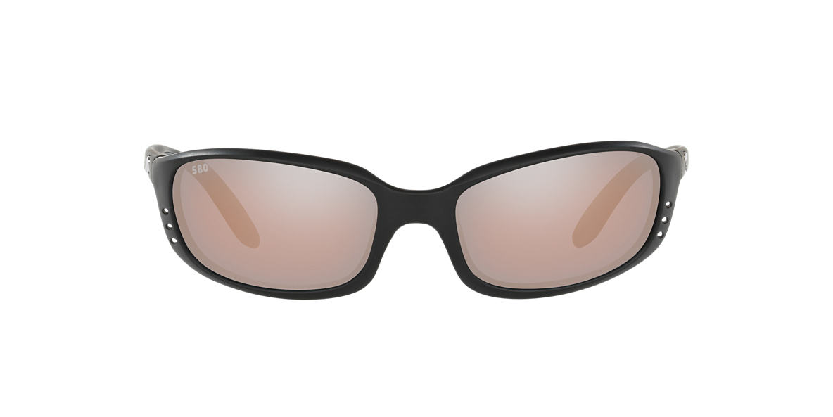 COSTA DEL MAR Black Matte BRINE Silver polarized lenses 64mm