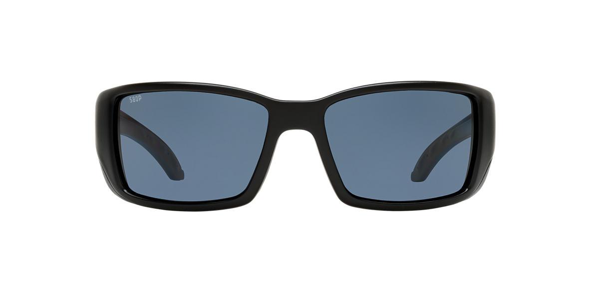 COSTA DEL MAR Black Matte BLACKFIN POLARIZED 60 Grey polarized lenses 60mm