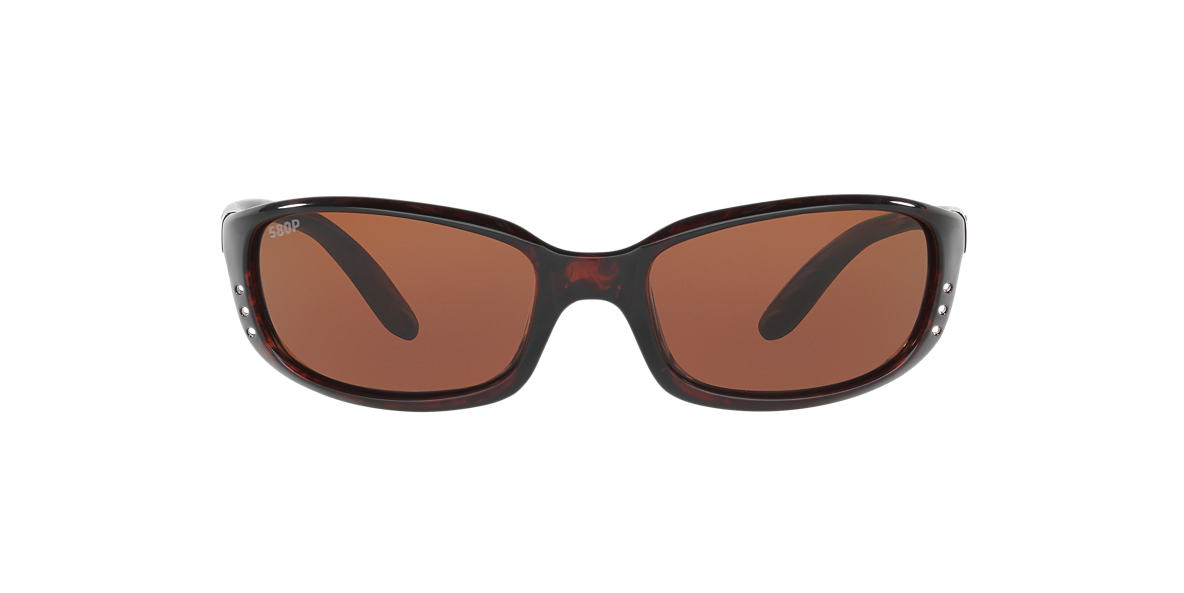COSTA DEL MAR Tortoise BRINE 64 Brown polarized lenses 64mm