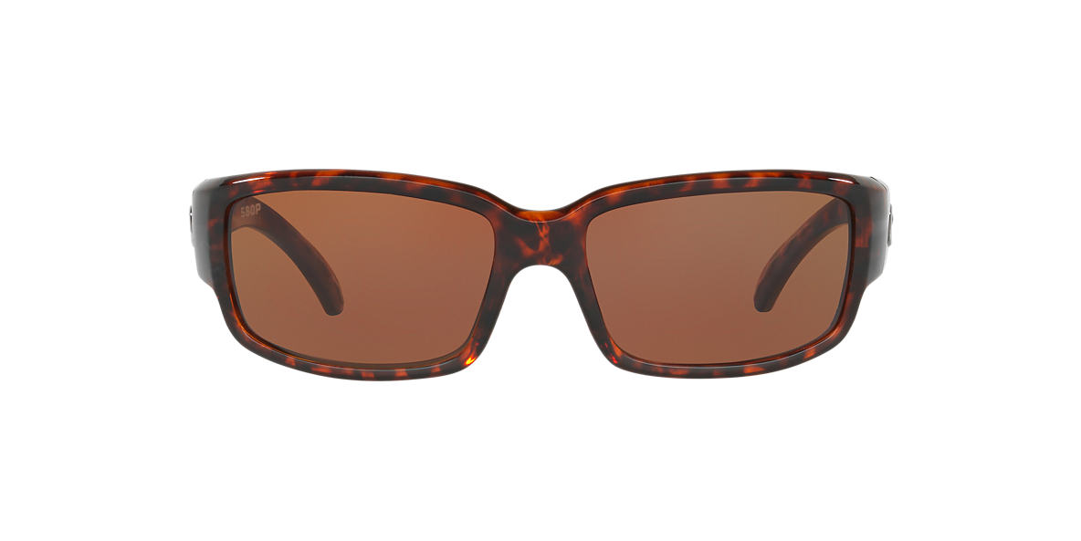 COSTA DEL MAR Tortoise CDM CABALLITO 64 Brown polarized lenses 64mm