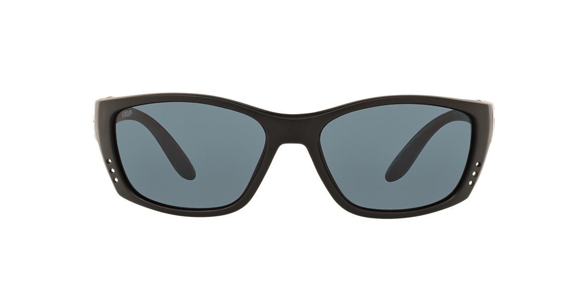 COSTA DEL MAR Black FISCH 64 Grey polarized lenses 64mm
