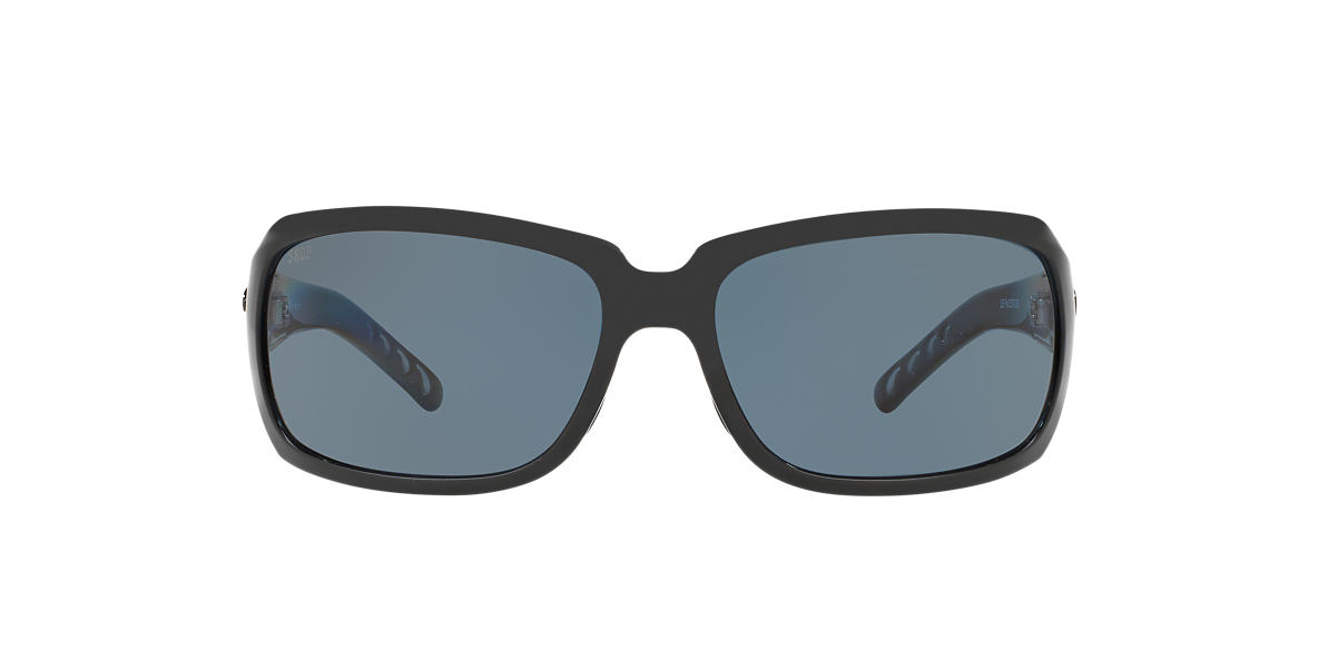 COSTA DEL MAR Black ISABELA POLARIZED 64 Grey polarized lenses 63mm
