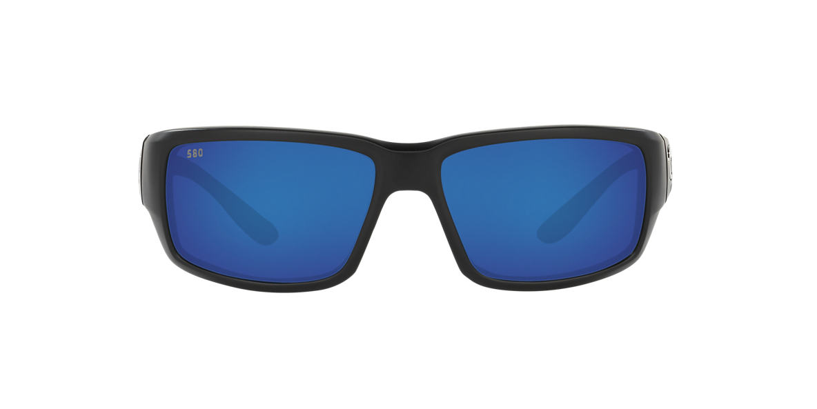 COSTA DEL MAR Black FANTAIL POLARIZED 59 Blue polarized lenses 59mm
