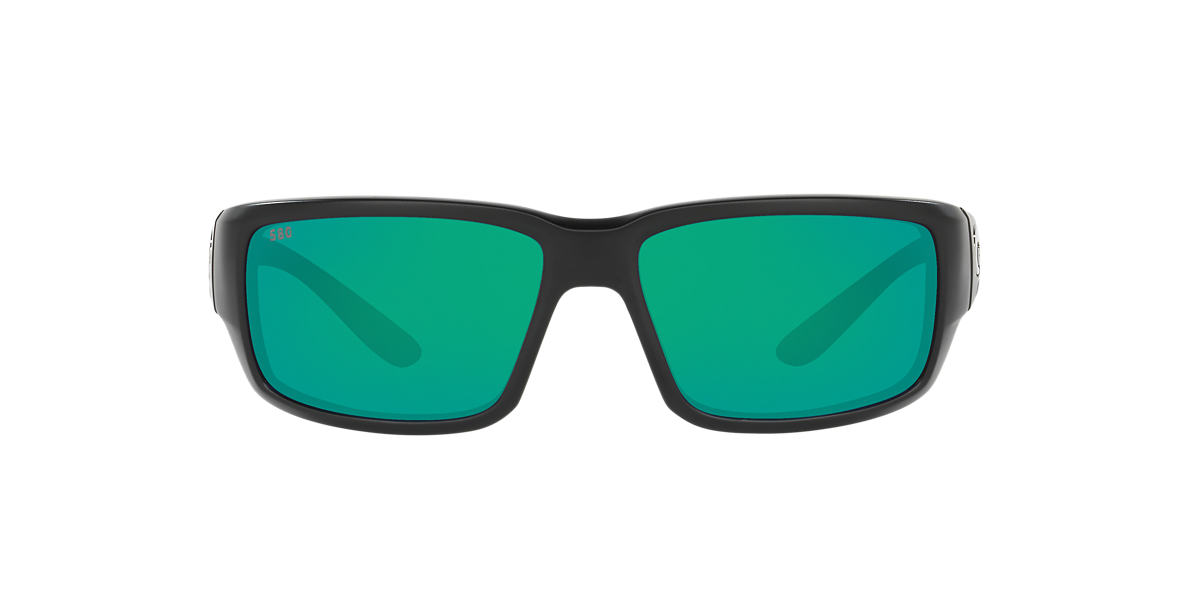 COSTA DEL MAR Black Matte FANTAIL POLARIZED 64 Green polarized lenses 64mm