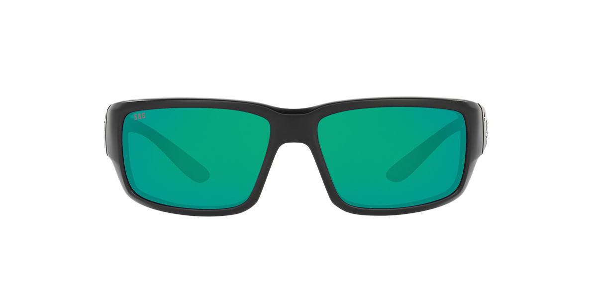 COSTA DEL MAR Black Matte FANTAIL POLARIZED 64 Green polarized lenses 64mm
