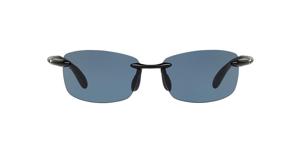 COSTA DEL MAR Black Shiny BALLAST POLARIZED 60 Grey polarized lenses 60mm