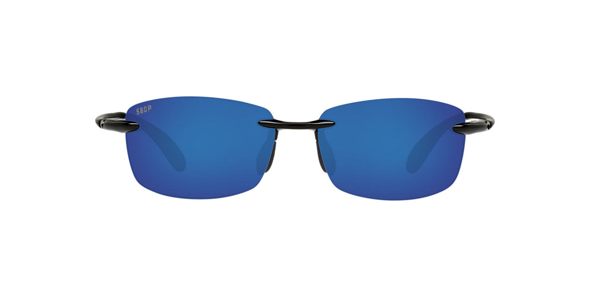 COSTA DEL MAR Black Shiny BALLAST POLARIZED 60 Blue polarized lenses 60mm