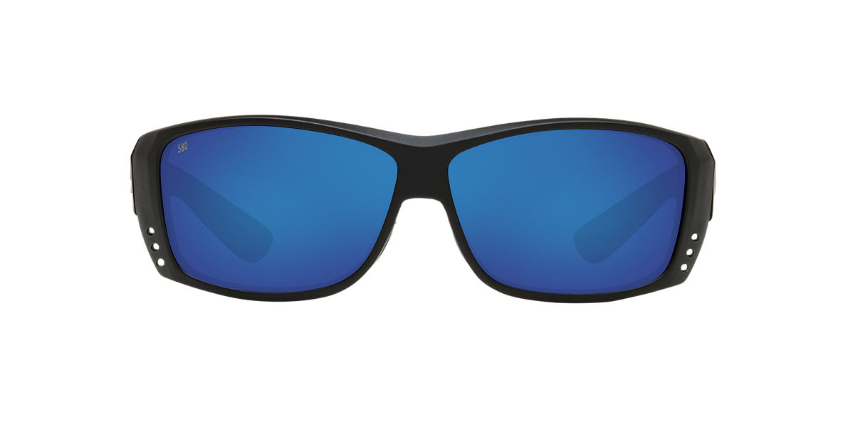 COSTA DEL MAR Black CAT CAY 61 Blue polarized lenses 61mm