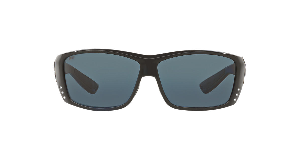 COSTA DEL MAR Black CAT CAY POLARIZED 60 Grey polarized lenses 61mm