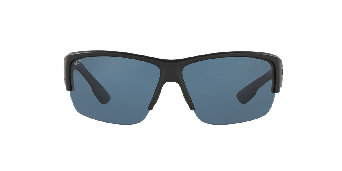 COSTA DEL MAR Black HATCH POLARIZED 62 Grey polarized lenses 69mm
