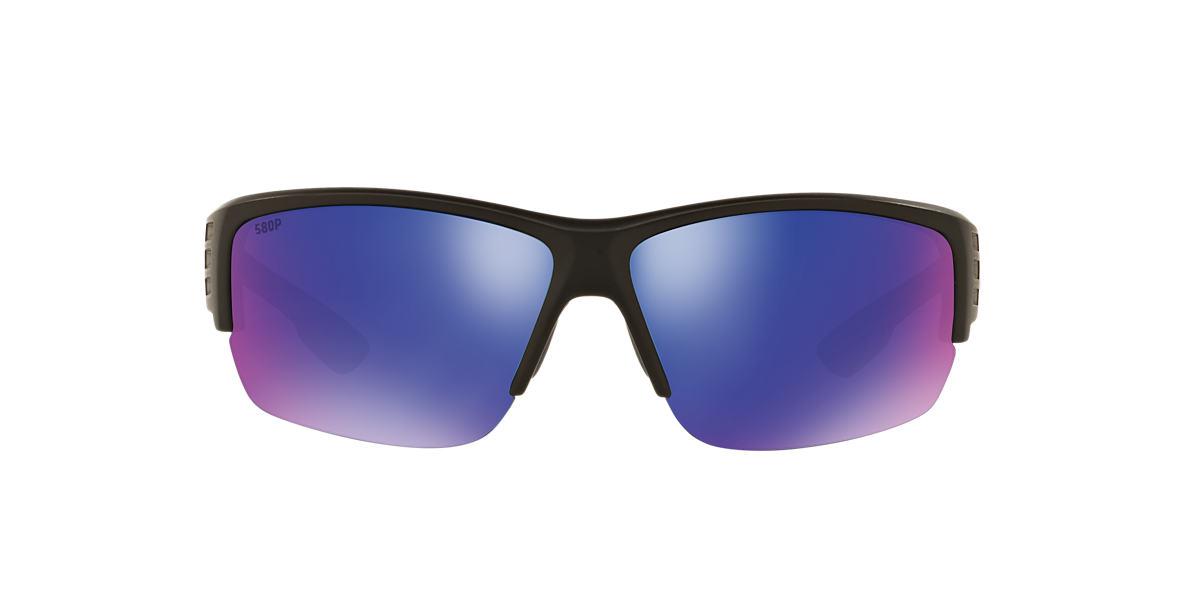 COSTA DEL MAR Black HATCH 69 Blue polarized lenses 69mm