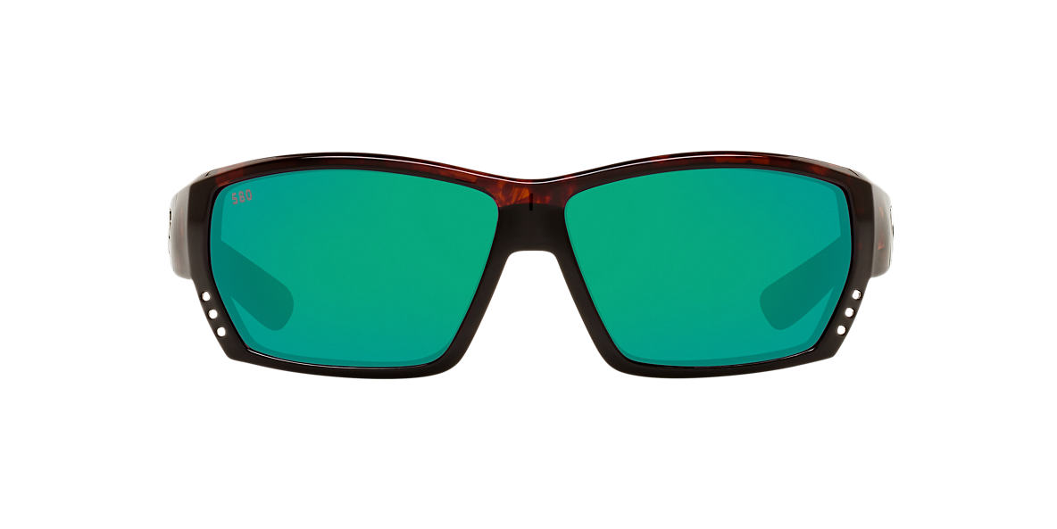 COSTA DEL MAR Tortoise TUNA ALLEY POLARIZED 61 Green polarized lenses 61mm