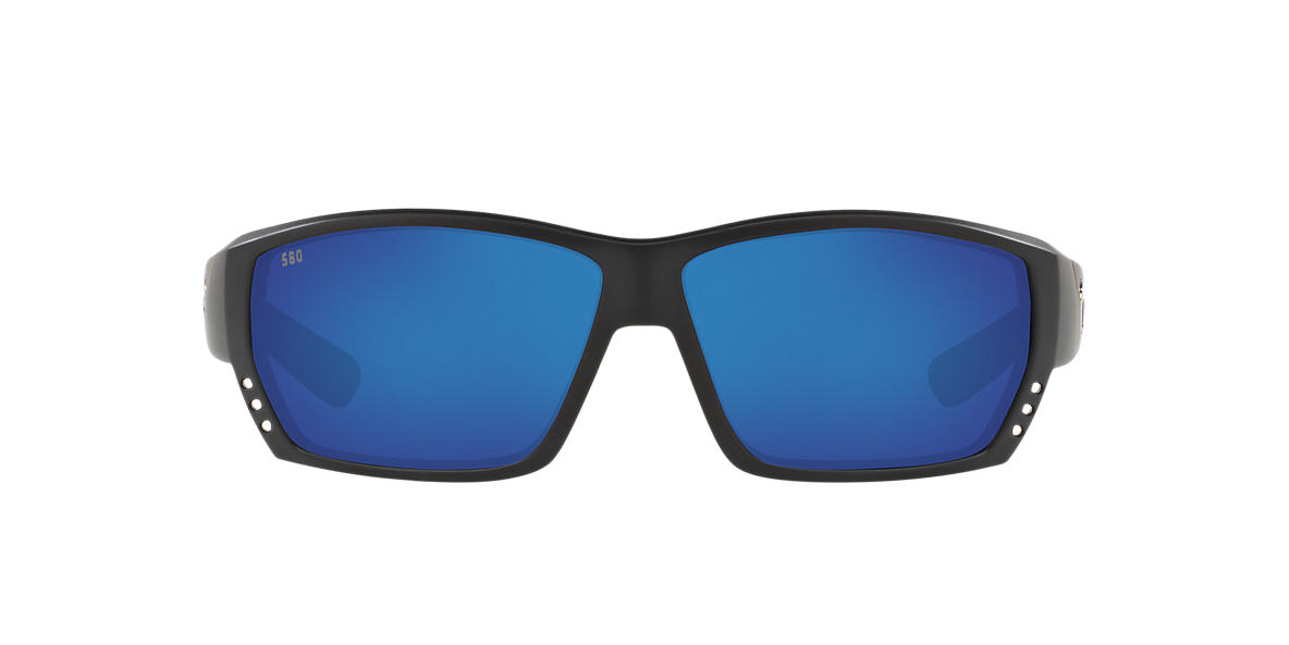 COSTA DEL MAR Black CDM TUNA ALLEY 62 Blue polarized lenses 62mm