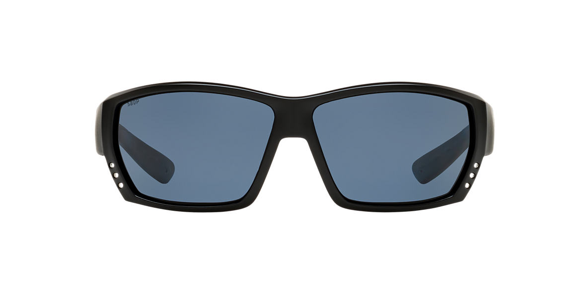 COSTA DEL MAR Black TUNA ALLEY CDM 62 Grey polarized lenses 62mm