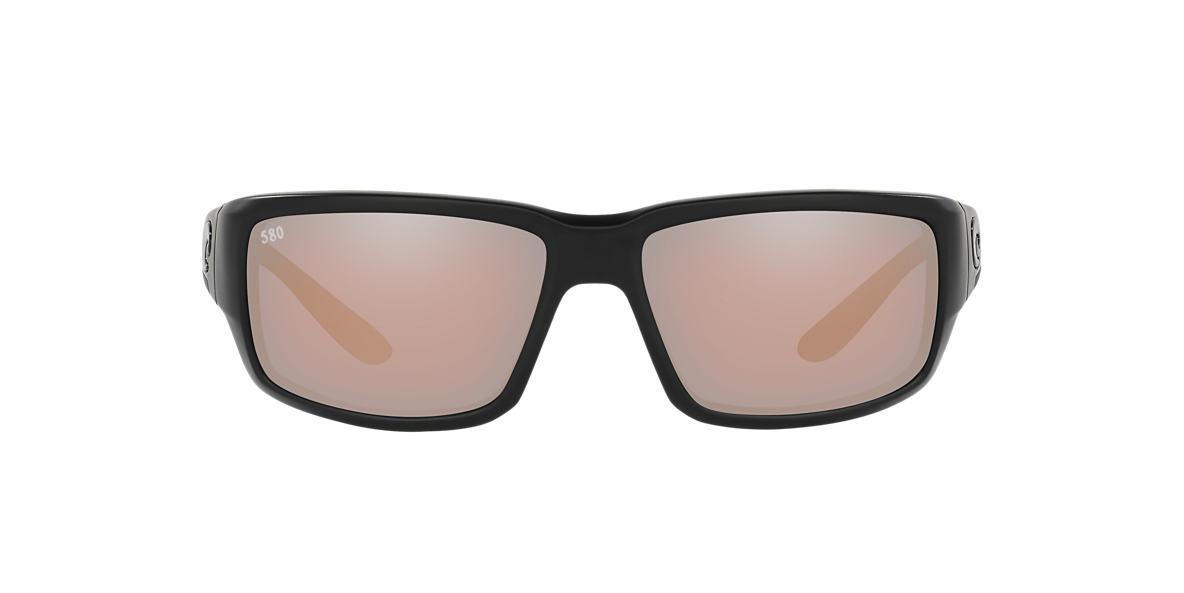 COSTA DEL MAR Black FANTAIL 59 Silver polarized lenses 59mm