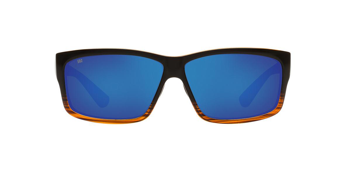 COSTA DEL MAR Brown CUT POLARIZED 60 Blue polarized lenses 60mm