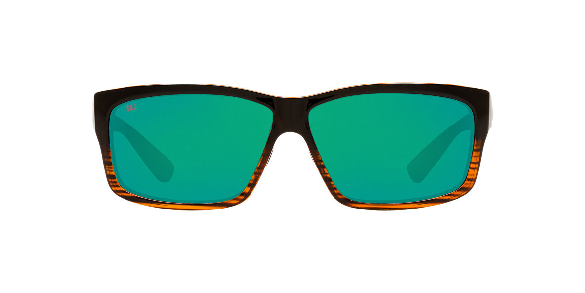 COSTA DEL MAR Brown CUT POLARIZED 60 Green polarized lenses 60mm