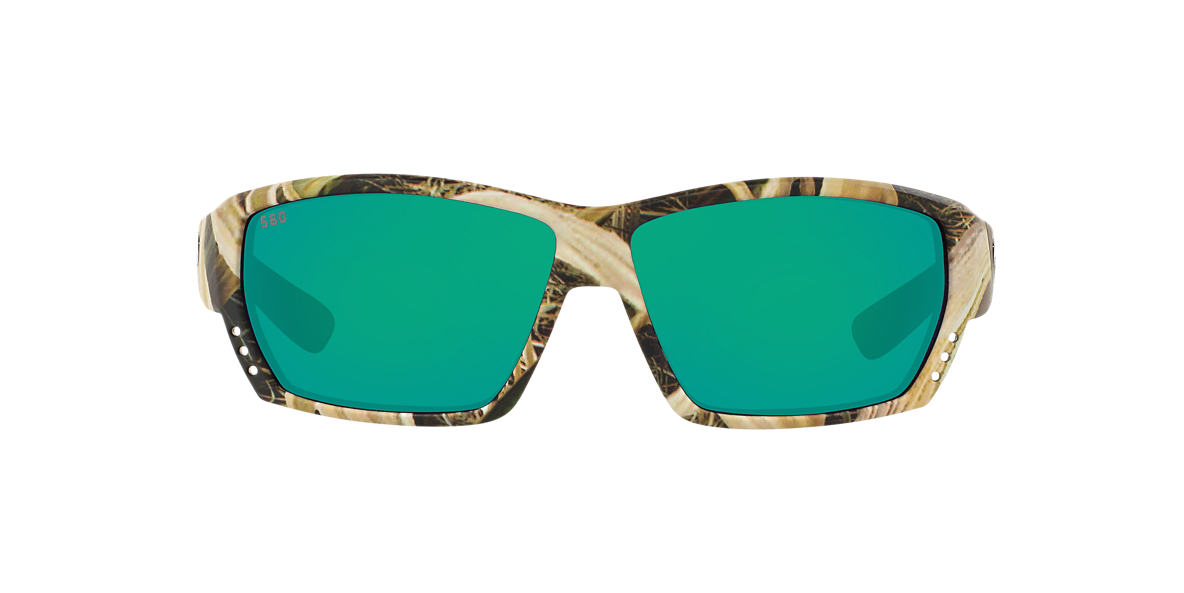 COSTA DEL MAR Brown CDM TUNA ALLEY 62 Green polarized lenses 62mm