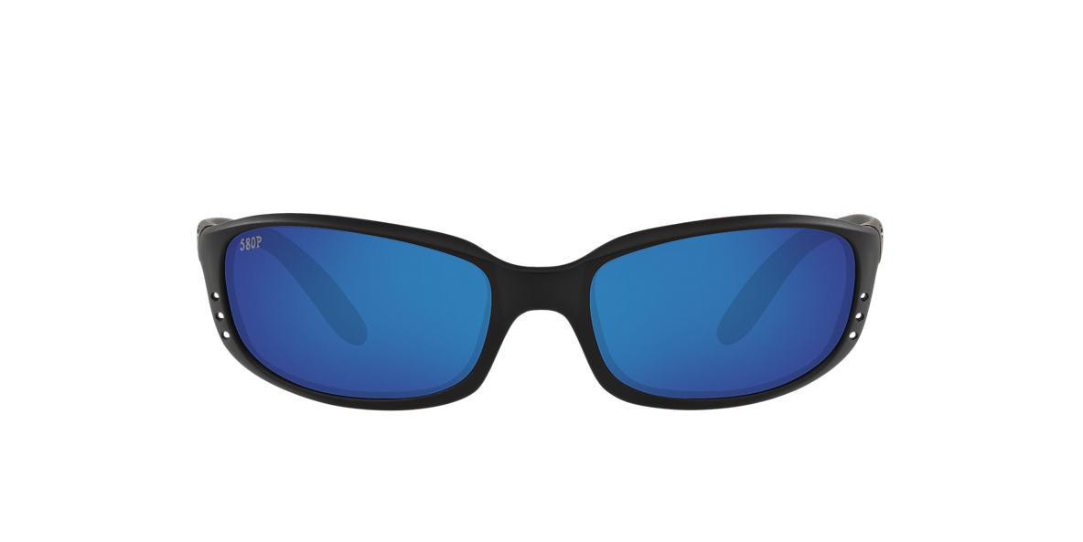 COSTA DEL MAR Black BRINE 06S000004 59 Blue polarized lenses 59mm