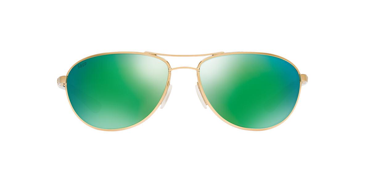 COSTA DEL MAR Gold CDM KC 06S000174 57 Green polarized lenses 57mm