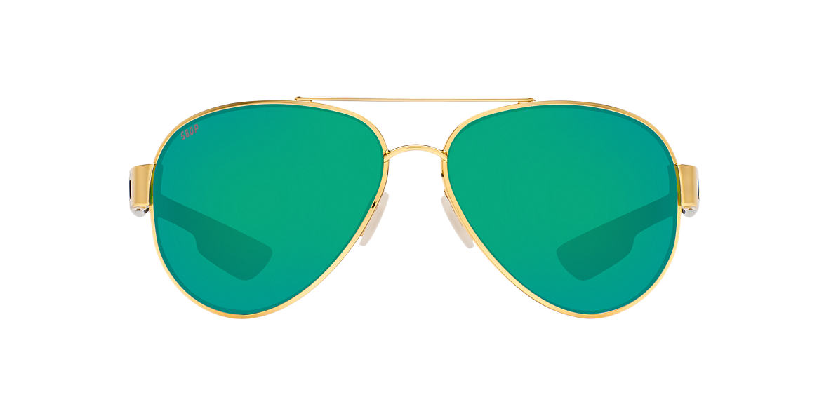COSTA DEL MAR Gold SOUTH POINT 59 Green polarized lenses 59mm