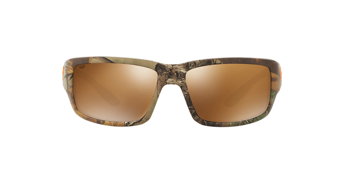 COSTA DEL MAR Brown FANTAIL 59 Silver polarized lenses 59mm