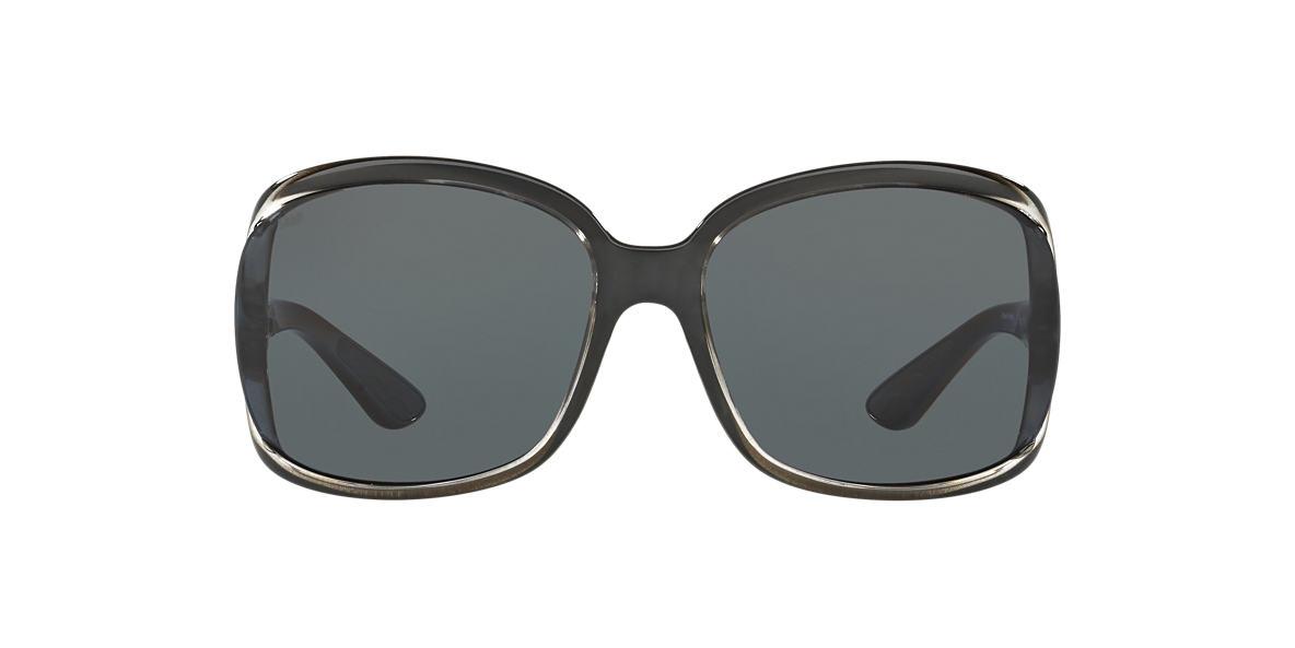 COSTA DEL MAR Black Shiny BOGA 61 Grey polarized lenses 61mm