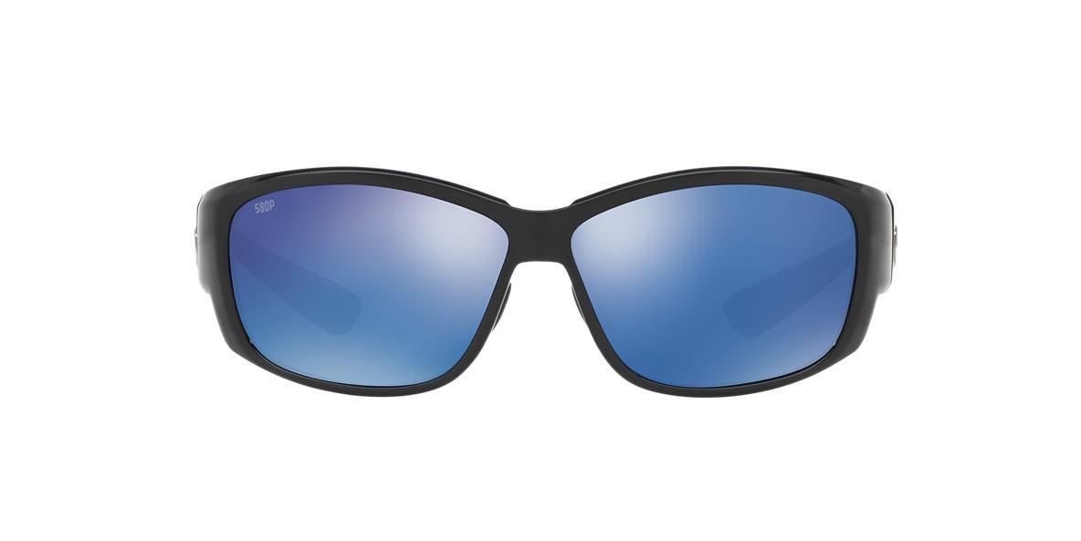 COSTA DEL MAR Black CDM LUKE 60 Blue polarized lenses 60mm