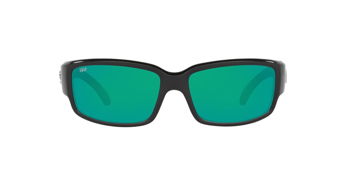 COSTA DEL MAR Black CDM CABALLITO 06S000169 59 Green polarized lenses 59mm