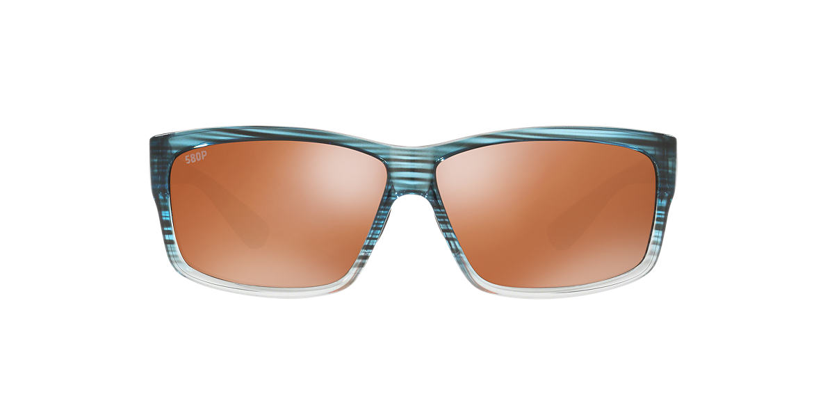 COSTA DEL MAR Green CUT POLARIZED 62 Silver polarized lenses 62mm