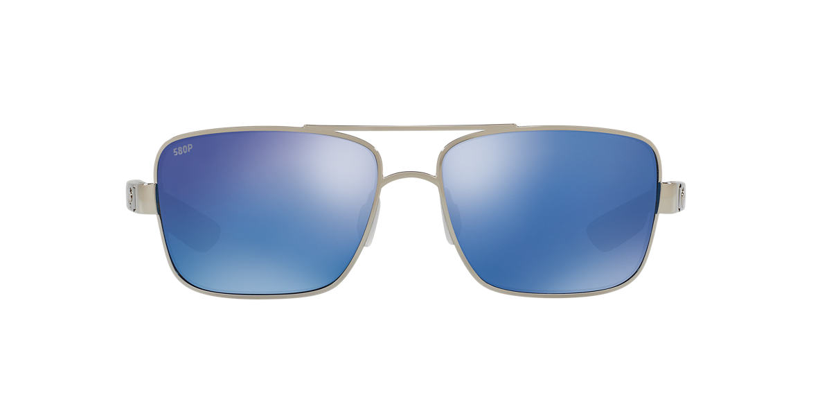 COSTA DEL MAR Silver NORTH TURN 59 Blue polarized lenses 59mm