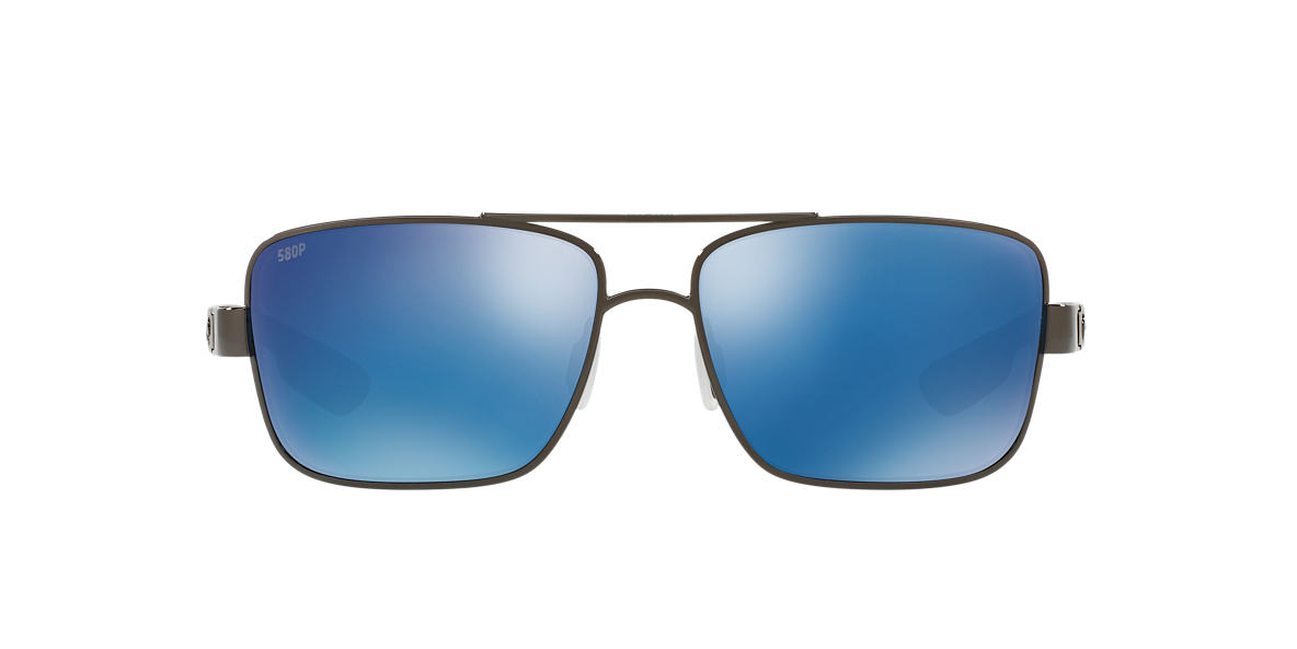 COSTA DEL MAR Gunmetal NORTH TRN 59 Blue polarized lenses 59mm