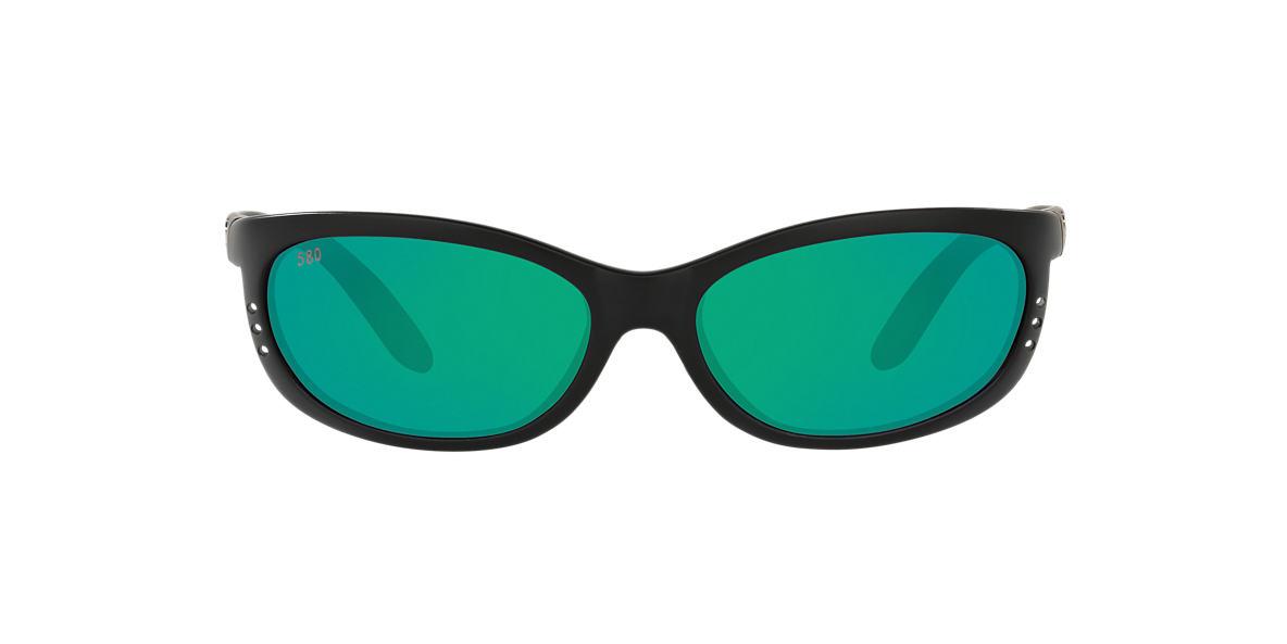 COSTA DEL MAR Black Matte FATHOM Green polarized lenses 61mm