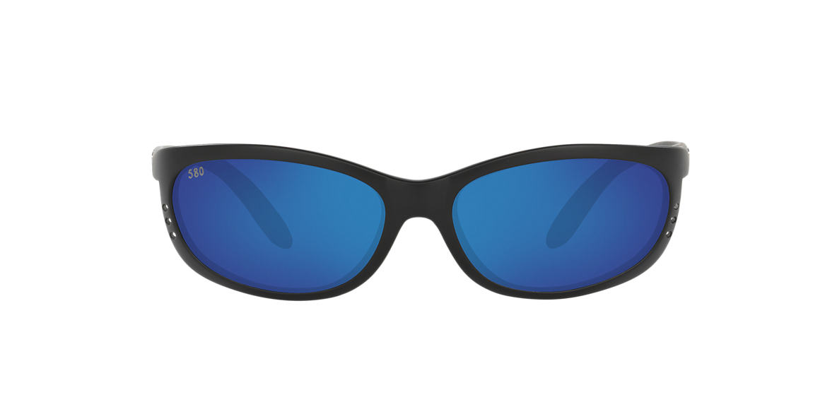 COSTA DEL MAR Black Matte FATHOM Blue polarized lenses 61mm