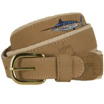 Guy Harvey Offshore Leather Belt