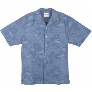 Guy Harvey Tuna Jacquard Buttondown Shirt