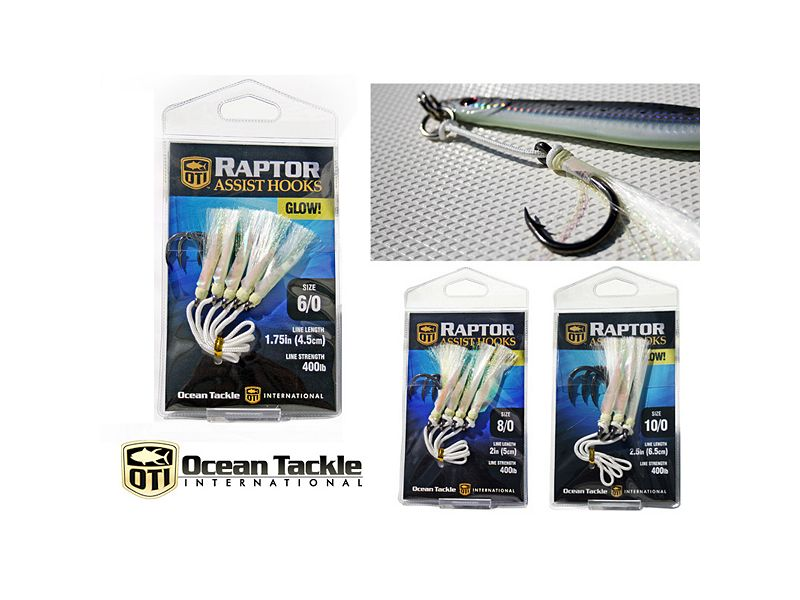 Ocean Tackle International Raptor Glow Assist Hooks