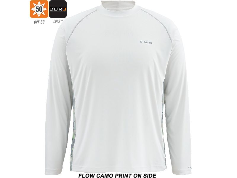 Simms Solarflex Long Sleeve Crew Neck Print Shirt