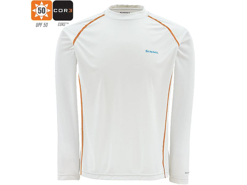Simms Solarflex Long Sleeve Crew Neck Shirt