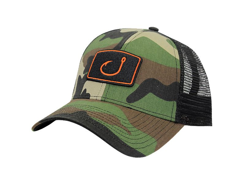 Avid iconic fishing trucker hat melton international tackle for 13 fishing hat