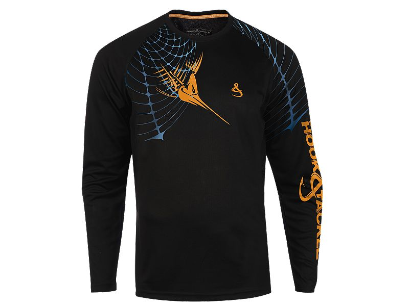 Hook & Tackle Marlin Web Sun Protective Long Sleeve Shirt