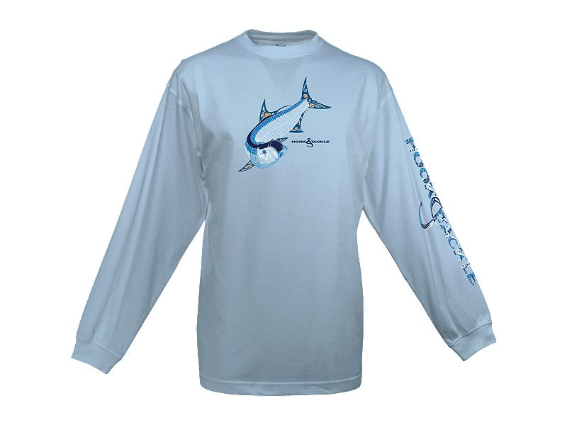 Hook & Tackle Tribal Tarpon Solar System Long Sleeve Shirt