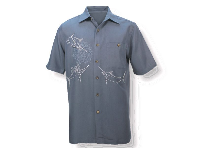 Hook & Tackle Territorial Embroidered Camp Buttondown Shirt