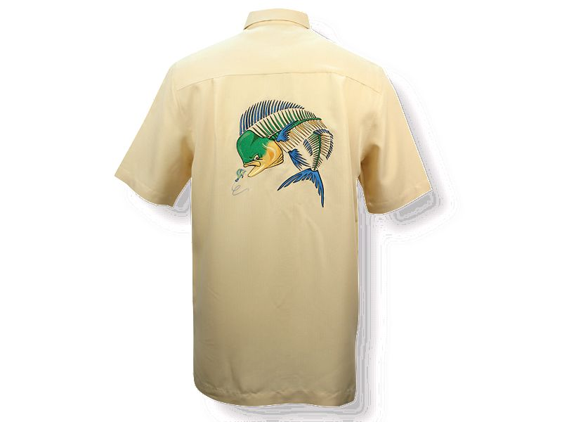 Hook & Tackle Mahi Bones Embroidered Camp Buttondown Shirt