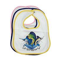 Lil' Bit Sporty Terrycloth 3 Fish Bib