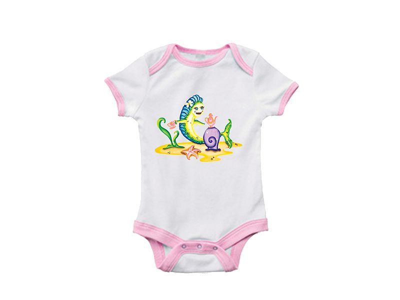 Saltwater Sandbox Tea Party Dorado Girl's Onesie