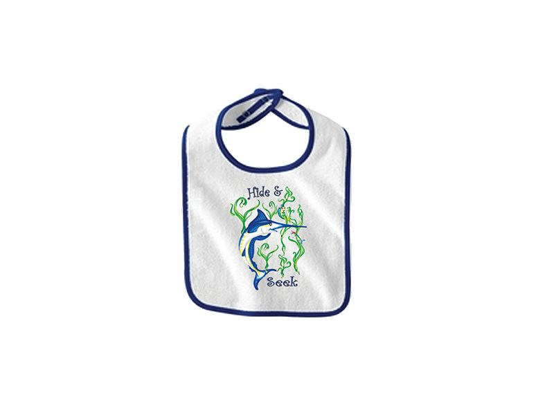 Saltwater Sandbox Hide-N-Seek Marlin Boy's Bib